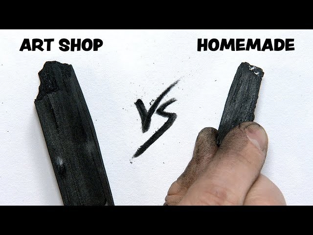 Homemade Charcoal Vs. Pro Artist Charcoal - Does it WORK?