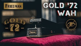 Friedman Gold 72 Wah Overview // Dave Friedman