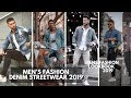 MEN'S DENIM JACKETS | SHIRTS || How to Style Denim Jackets | Shirts || Outfit  Streetwear Ideas 2019