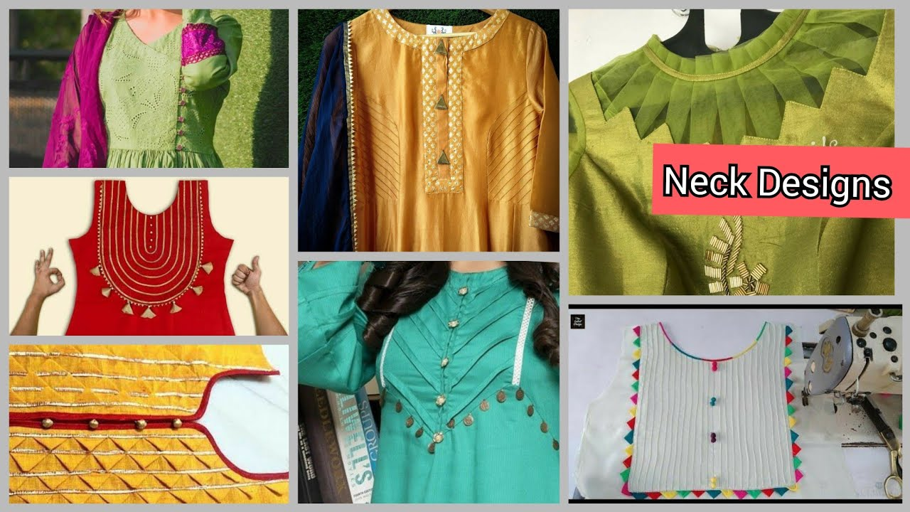 Latest and Easy Neck Designs for kurti and suits