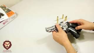 Пневматический револьвер Gletcher SW R25 (silver) (Видео-Обзор)