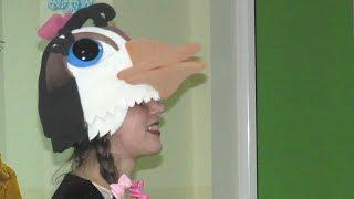 Как сделать маску грача и маску пингвина