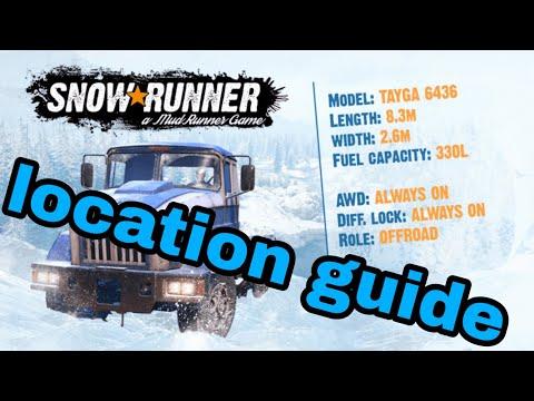 SnowRunner Tayga 6436 Location guide
