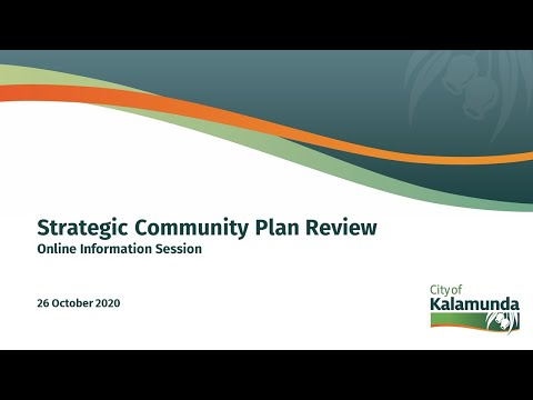 Strategic Community Plan - Online Workshop