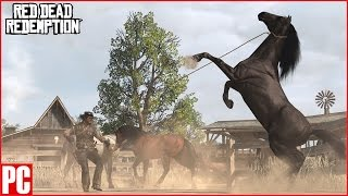 Red Dead Redemption PC/PS Now- Capturing Wild Horses with Lasso Mission Gameplay thumbnail