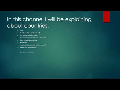 Channel Introduction-Geography
