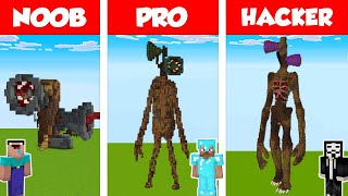 Minecraft NOOB vs PRO vs HACKER: SIREN HEAD HOUSE BUILD CHALLENGE in Minecraft / Animation