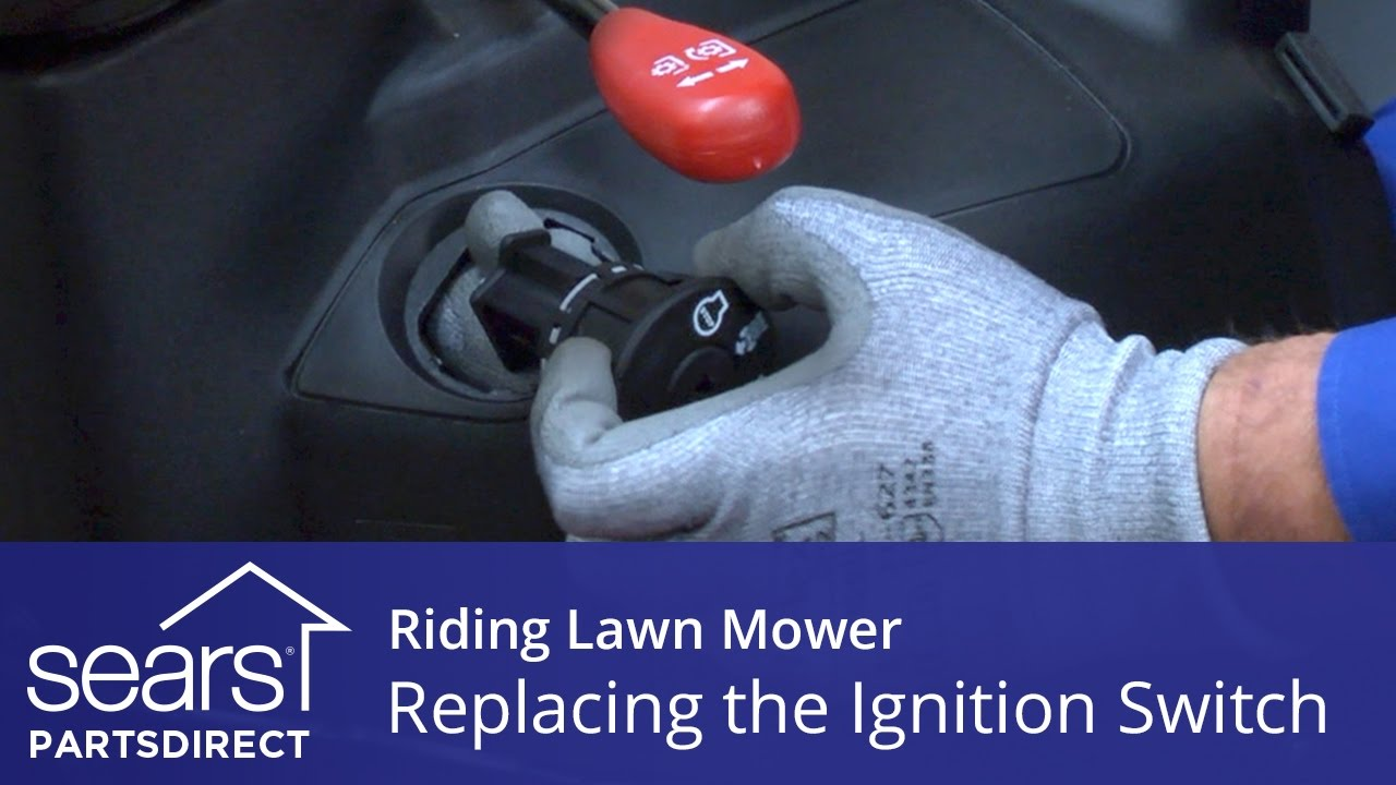 replacing an ignition switch on a riding lawn mower sears partsdirect [ 1280 x 720 Pixel ]