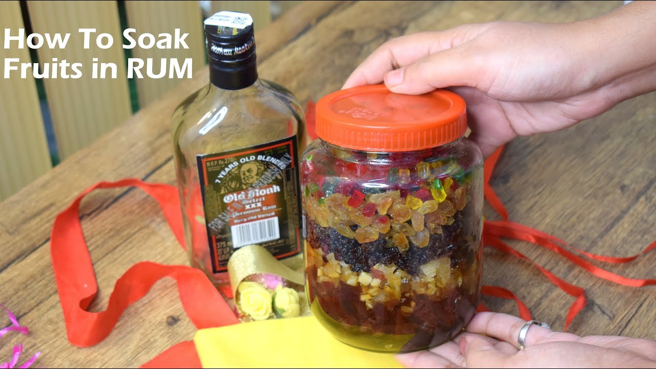 How to Soak Fruits in Rum for Rum Cake - Christmas Recipes