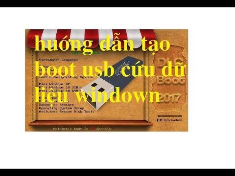 hưỡng dẫn tạo boot usb cứu dữ liệu khôi phục windown[[ khamphaphancung.com ]]