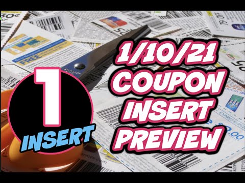 1/10/21 COUPON INSERT PREVIEW | GET FREE COUPONS NOW!!!  😍