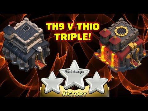 TH9 vs TH10 TRIPLE!! ByeForever vs North...