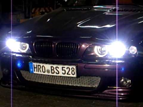 bmw e39 mit bi xenon vom e46 mit klapp shutter youtube. Black Bedroom Furniture Sets. Home Design Ideas