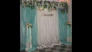 Пресс стена 3d на свадьбу(Пресс стена 3д на свадьбу. Пресс стена на кыз узату в цвете тиффани для Дамиры. Заказы на пресс стену из бума..., 2016-07-20T16:00:34.000Z)