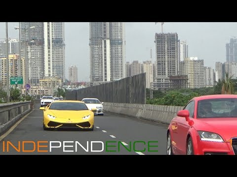INDEPENDENCE DAY DRIVE 2017 | SUPERCARS OF MUMBAI | INDIA