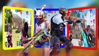 Cover Hunter 3V3 Team Battle - Bermain Menggunakan Senjata FAMAS screenshot 4