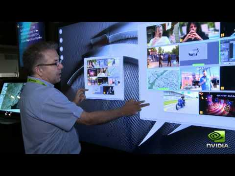 """Perceptive Pixel Demos 82"""" Multi-touch Display Powered By NVIDIA Quadro At SIGGRAPH 2011."""