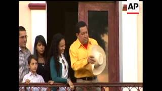 Venezuelan President Hugo Chavez sang, danced and said he intends to stay in power for two more deca