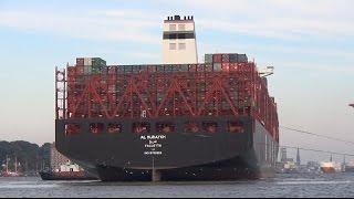 AL MURAYKH in Hamburg - Größtes Containerschiff der Welt! Erstanlauf am 12.10.2015