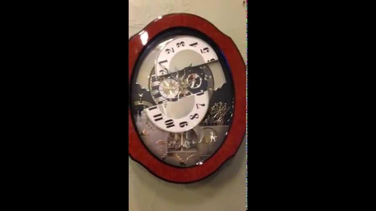 Rhythm Small World Magic Motion Wall Clock Youtube