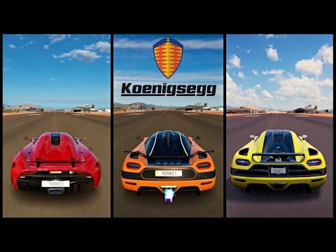 Ultimate Koenigsegg Battle! | Forza Horizon 3 | Regera vs ONE:1 vs Agera