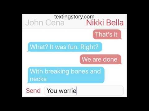 """John Cena and Nikki Bella """"Breaking Up"""" (FAKE)"""
