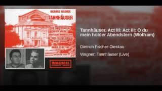 Tannhäuser Act III Act III O Du Mein Holder Abendstern Wolfram