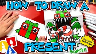 How To Draw A Present Monster Folding Surprise