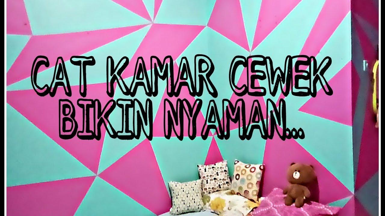 Cara Cat Geometri Kamar Cewek Pink Hijau Toska Geometri 2 Youtube