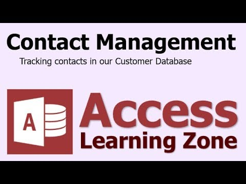 Microsoft Access Contact Management (CRM) Database Template - FULL LESSON