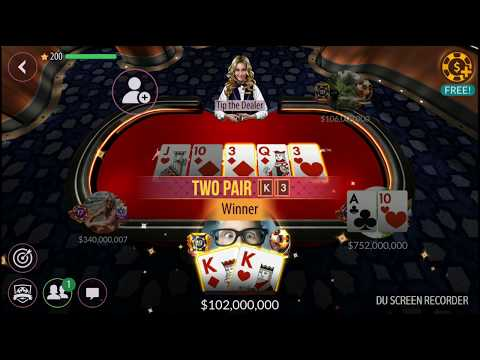 How I Win ($50M to $1B CHIPS) in 32minutes! Zynga Poker Gameplay! Must Watch! 1080p