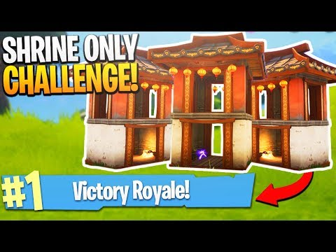 SHRINE ONLY CHALLENGE! (Hard) - PS4 Fortnite Shrine Locations and Loot!