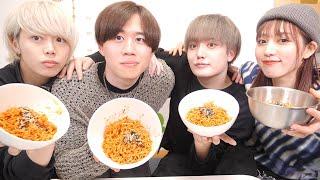 新メンバーが入ることになったのでまず韓国の激辛麺を食べてもらう【モッパン】