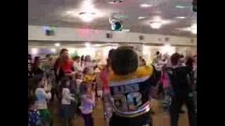 Bruins Mascot Blades does the Wobble