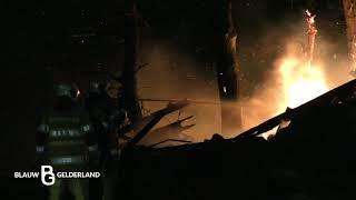 Uitgebrande schuur opnieuw in brand gevlogen -Stoutenburg/Hoevelaken-