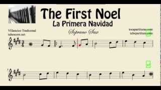 La Primera Navidad Partitura de Saxo Soprano The First Noel
