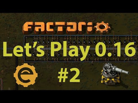 Factorio 0.16 Let's Play #2 - smelting layout