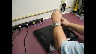 repairing a dell 1905fpv 1907fpv monitor part 1 disassembly