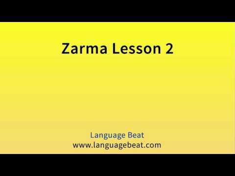 Learn Zarma   :  Lesson 2  -  Zarma  Phrases for Beginners