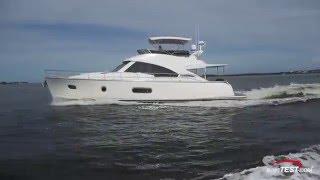 Riviera Belize 54 Daybridge Test 2016- By BoatTest.com