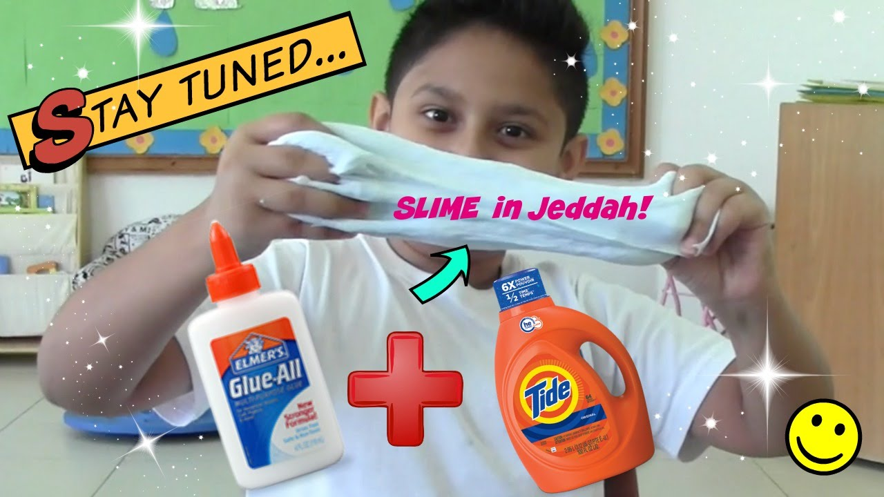 How to make really easy slime with glue and tide