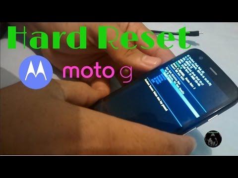 Motorola Moto G: Hard Reset   Restablecer dispositivo al estado Fábrica