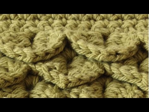 Crocodile Stitch Free Crochet Pattern – Right Handed