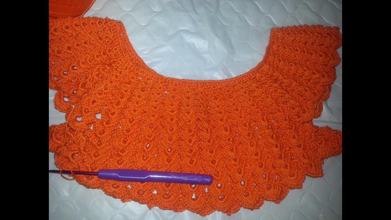Вязание вяжем платье на малышку лужок