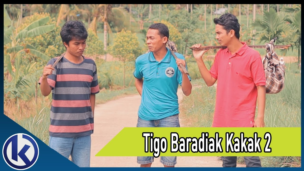 Tigo Baradiak Kakak 2   Lawak Minang (Mangaleke)