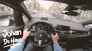 BMW 218i Active Tourer 140 hp POV Test Drive
