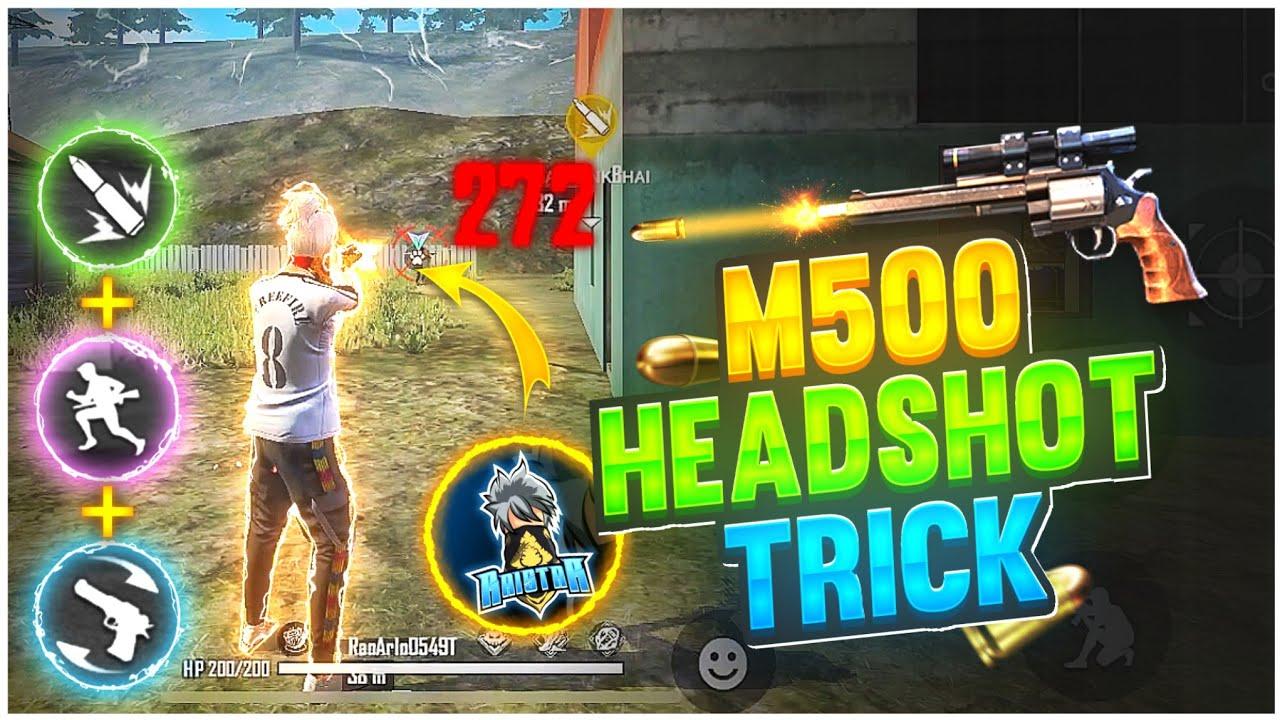 M500 Headshot Trick 🔥| Secret One Tap Headshot Trick 👽| M500 Headshot Setting |-Garena Free Fire