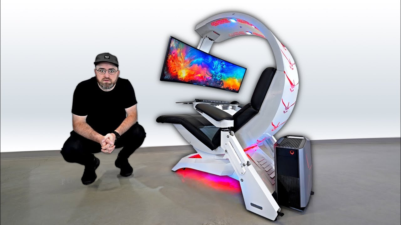The most insane workstation gaming setup youtube for Chair in fortnite
