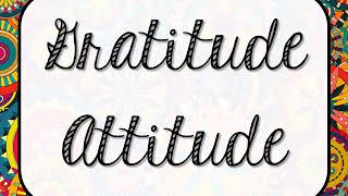 4 Gratitude Attitude