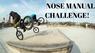 BMX NOSE MANUAL CHALLENGE!